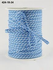MAY ARTS RIBBONS~SOLID DIAGONAL STRIPE~BLUE & WHITE~1/8TH INCH WIDE X 3 YARDS!