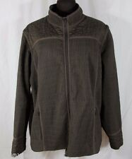 Dark Brown Quilted Jacket AND Vest Plus Size 3x Aeros Fall Med Weight 2 in 1