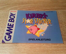 Nintendo Gameboy (GB) // Kirby - Star Stacker - Anleitung/Instructions //dt. PAL
