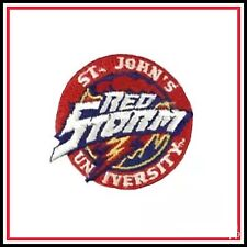 """St. John's Red Storm Vintage University Embroidered Iron On Patch 3"""""""