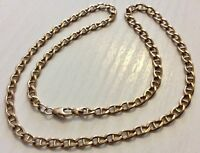 Super Quality Vintage Heavy Solid 9CT Gold Fancy Link Necklace Chain 19""