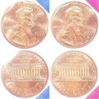 1997 P D Lincoln Memorial Cent BU US Mint Cello 2 Coin Penny Set