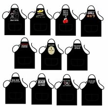 New Adult Funny Novelty Kitchen BBQ Aprons In Different Thems One Standered Size