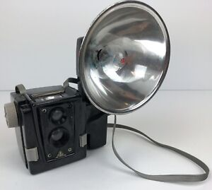 Vintage Tower 120 Film Camera with Flash Attachment