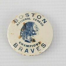 Vintage 1940's Baseball Boston Braves National League Champions Button Pin