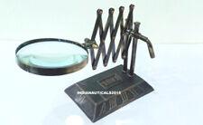 Nautical Brass Map Reader Magnifying Glass Vintage Desk Magnifier Lens