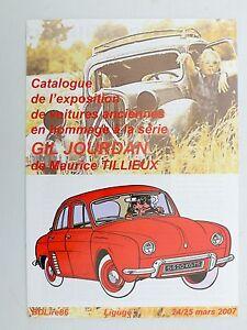 TILLIEUX Gil Jourdan catalogue expo voitures Ligugé 2007