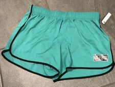 NEW VICTORIA'S SECRET SPORT The Player Sport Run Shorts Green Black Size S