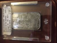 BLOOD IN THE BAYOU 1 oz .999 Silver Art Bar #19 of #36 Laser Etched  by Mk BarZ