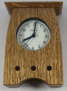 Schlabaugh & Sons Arts & Crafts Mantle Shelf Oak Clock