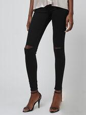 Ladies Topshop Joni Super High Waisted Skinny Ripped Black Jeans W30 L32 UK 12