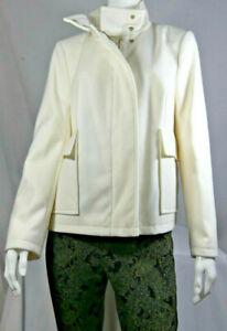 Ladies Women M&S WINTER-WHITE Funnel Neck Jacket Coat Size 8-22 BNWT LCOct12-1