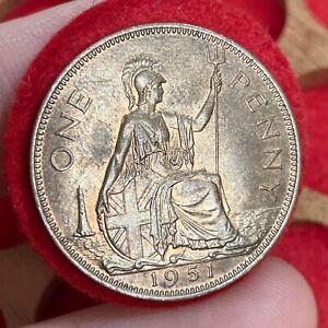 Scarcer Year George VI Penny, 1951.