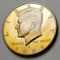 2006-S KENNEDY HALF DOLLAR BU UNC PROOF BEAUTIFUL COLOR TONED COIN