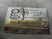 Vintage 1966 67 Gem Model HO Scale Model Train Catalog Booklet