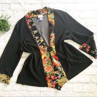 Soft Surroundings Asian Oriental Kimono Jacket XL