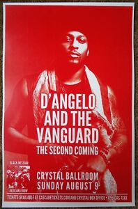D'ANGELO AND THE VANGUARD 2015 POSTER Gig Portland Oregon Concert Second Coming