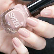 12ml Sweet Color Nail Polish Nude Pink Varnish Nail Art Manicure Eco-friendly