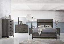 Kings Brand Furniture – Ambroise 6-Piece King Size Bedroom Set, Grey / Black