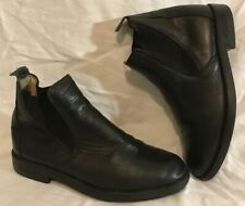Fouganza Black Ankle Leather Lovely Boots Size 4 (463Q)