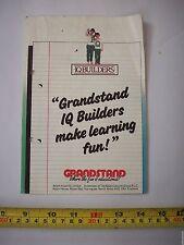 Tribüne IQ Builders Vintage Computerspiel-Literatur nur selten VGC