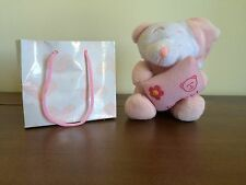 It's A Girl Newborn Baby Small Pink Teddy Bear Soft Plush Toy With Gift Bag