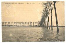 NEDERLAND 1906  AK  - WATERSNOOD IN ZEELAND - NAAR NED INDIE  FRAAI
