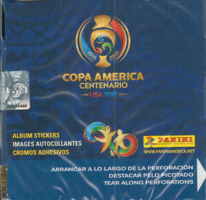 2016 Panini COPA America Centenario Factory Sealed Soccer Sticker Box 50 Packs
