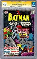 BATMAN #183 CGC-SS 7.0 SIG BURT WARD & CARMINE INFANTINO 2ND POISON IVY APP 1966
