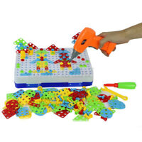 240PCS Kids DIY Building Montessori Toy Kit Child Gifts Electric Drill Toys