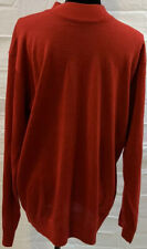 Inserch Men's Red Wool Sweater Size Large Sz L Long Sleeve Mock Neck NWT