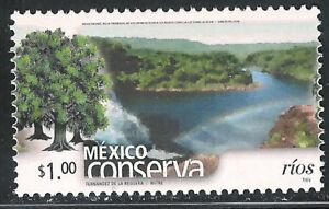 pc002 Mexico Conserva MNH paper 1 Sc#2254 Mc#2963A Et#mc002 Rivers