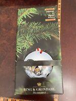 Bing & Grondahl Tomten Elf Feeding Dog Ornament Harald Wiberg Denmark New In Box