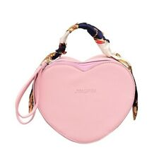 PU Leather Women Bag Personality Heart Shape Bag Handbag Shoulder Messenger Bag