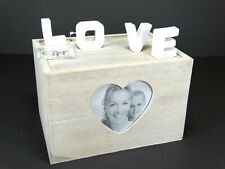 LOVE Photo Album Storage Shabby Chic Wooden Box For 65 Photos