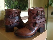 Freebird by Steven ESTES Cognac Leather Ankle Boots - 6M MSRP $295
