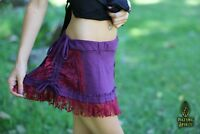 Rave Skirt, Purple Mini Skirt, Rave, Psytrance, Doof, Goa, Festival, Lace, Pixie