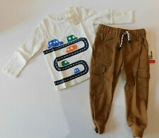 NWT Epic Threads/First Impressions Baby Boy 2 Pc Set T-Shirt/Cargo Joggers 2T