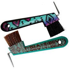 Navajo Horse Pony Hoof Pick Brush Teal w/ Brown/Teal or Black w/ Teal/Pink