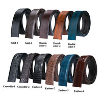Mens Leather Replacement Belts Ratchet Belts No Buckls Black Brown Belt Optional
