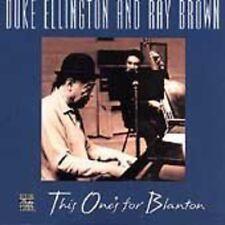 Duke Ellington / Ray - This One's for Blanton [New CD]