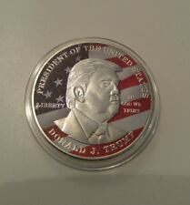 45th President of USA 2017 silver plated coin Donald Trump money