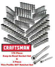 Craftsman 176-Piece Easy Read Socket Set 6 & 12 pt 3 Ratchets 1/4 3/8 1/2 311