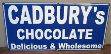 CADBURYS CHOCOLATE ENAMEL SIGN (MADE TO ORDER) #29