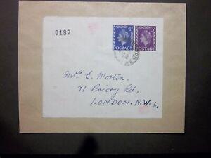 GB Stationery STO 1962 QEII 3d + 4d compound Label BRIXTON S.W.2 to London WS92