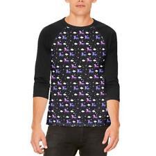 Galaxy Unicorn Pattern Mens Raglan T Shirt