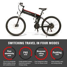 Samebike Bicicleta EléCtrica Plegable De 500W 26'' AmortiguacióN Rango 80km E8A8