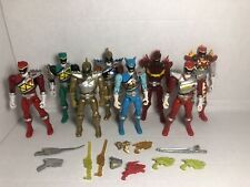 Lot Of 8 Power Rangers Dino Charge 5 inch action figures w/ Weapon/Accessories