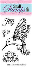 Hot off the Press - clear cling stamps - Hummingbird - 4 stamps