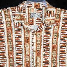 Vintage Toes on the Nose Hawaiian Aloha Shirt XL Shag Signature Tiki Rust Mens